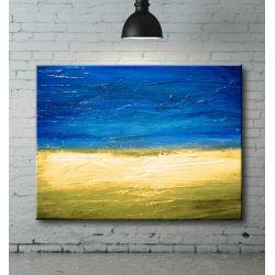 """Ręcznie malowany """"z widokiem na morze"""" 70x100cm Akryl"""
