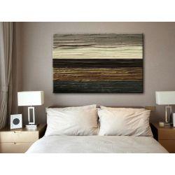 Obraz ręcznie malowany brązowa abstrakcja Akryl