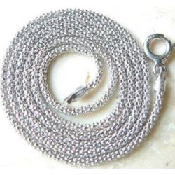 Lancuszek koreanka białe srebro 39 cm