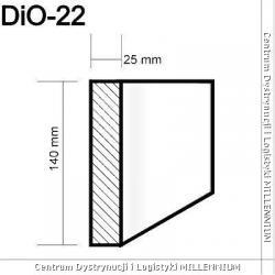 Obramowanie drzwi i okien DIO-22 14x2,5cm element surowy 1mb
