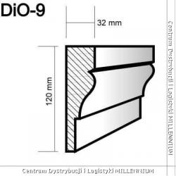 Obramowanie drzwi i okien DIO-9 12x3,2cm element powlekany 1mb