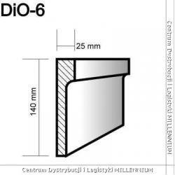 Obramowanie drzwi i okien DIO-6,14x2,5cm element powlekany 1mb