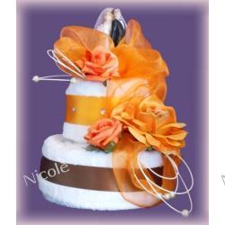 Tort z 3 ręczników: Pomarańczowy