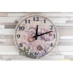 ZEGAR WISZĄCY NA ŚCIANĘ RÓŻE DO POWIESZENIA PŁÓTNO Zegary