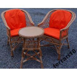 Fotele i stół meble ogrodowe + Śliczne poduchy