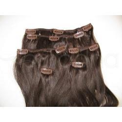 Włosy na taśmie naturalne Clip-in Clip-on 52cm!
