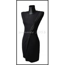 Seksowna Mała Czarna Sukienka Elegancka Tuba L