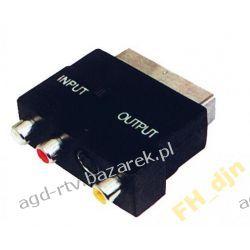 Złącze wtyk przejście Euro - 3x RCA + SVHS in-out