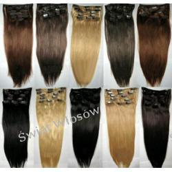 Zestaw Włosy Naturalne  Remy Clip- in 50-55 cm -7 taśm