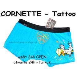 24h OPEN bokserki CORNETTE szorty Tattoo L
