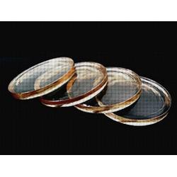 Soczewki szklane, fotochromowe indeks 1.52 z antyrefleksem AR Cyprys. Oprawki