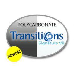 Szkła Transitions VII Signature Polycarbonate, sferyczne indeks 1.59 (20% cieńsze) z antyrefleksem AR Cyprys Oprawki