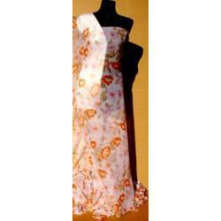 SZYFON KRESZOWANY  - kwiaty różowe i pomarańczowe