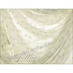 SZYFON KRESZOWANY - szare listki na bieli