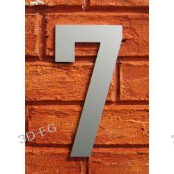 CYFRA 7 NUMER NA DOM SREBRNA wys 18cm Alucobond