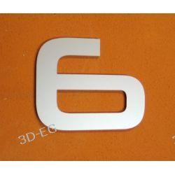 CYFRA 6 NUMER NA DOM, DRZWI wys. 15 cm Alucobond M