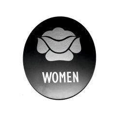 Piktogram Symbol Znak Tolaeta WC dla Kobiet SK Dom i Ogród