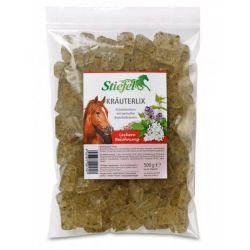 Krauterlix Bonbons  STIEFEL ziołowe cukierki dla konia 500g  Sport i Turystyka
