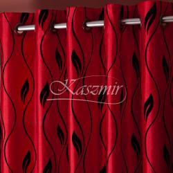 Gotowa zasłona na przelotkach Wrathful patterns żywa czerwień 150x250...