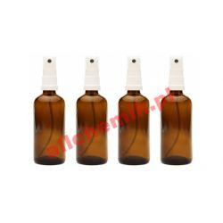 Butelka szklana brązowa z atomizerem 50 ml - 1 szt
