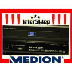 NAGRYWARKA MEDION COMBO  DVD VHS HDMI DIVX USB
