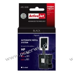 ActiveJet Automatic Refill System HP 300/301/901 Bk 3x6ml ARS-300B  22 cale