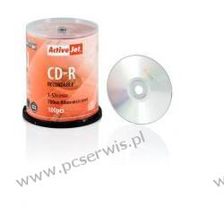 CD-R ACTIVEJET 700MB 52X CAKE 100SZT 22 cale