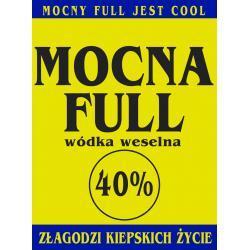 Etykiety na wódkę Mocna