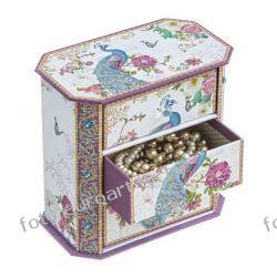 Szkatułki z szufladkami pudełko na biżuterię Akcesoria
