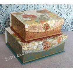 MAKI zestaw 2 szkatułek pudełka ozdobne Akcesoria
