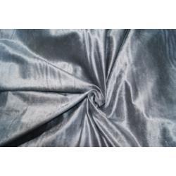 Aksamit kolor srebrny, połyskliwy - kupon 1,5m.