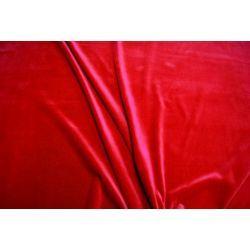 Aksamit 100% bawełna czerwony zasłony kotary A213