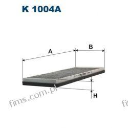 K1004A FILTRON FILTR KABINOWY WĘGLOWY Audi 80, 90 6/93-> A4 1/95->Passat 10/96-> AHC119 CUK3955 LAK45 1730021