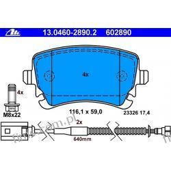 13.0460-2890.2 ATE Klocek hamulcowy kpl. T VW Phaeton 3.2 V6 02-  3D0698451A  GDB1508