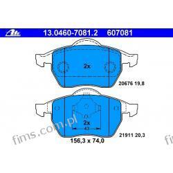 13.0460-7081.2 ATE KLOCKI HAMULCOWE VW GOLF IV 1,8T-2,8 V6 97-  PRZÓD  3A0698151  8N0698151  GDB1275
