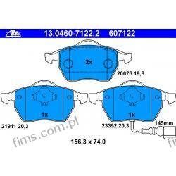 13.0460-7122.2 ATE KLOCKI HAMULCOWE VW GOLF IV 97-03 Z CZUJ  OCTAVIA LEON  1J0698151M  GDB1403