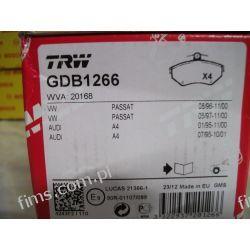 GDB1266 TRW KLOCKI HAMULCOWE VW PASSAT 96-99 AUDI A4   PRZÓD  8E0698151  P85042