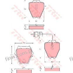 GDB1371 TRW KLOCKI HAMULC. AUDI A8 2,5-6,0 98-  AUDI A6  13046028762  37162