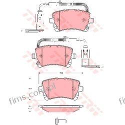 GDB1508 TRW KLOCKI HAMULC. VW PHAETON 02- TYŁ Z CZUJ  3D0698451  13046028902  P85064