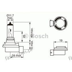 1987302081 BOSCH ŻARÓWKA H8 35W 12V PURE LIGHT Żarówka,