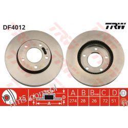 DF4012 TRW TARCZA HAMULC. PRZÓD MAZDA XEDOS 9  MPV  T0023325X  J3303056  16524  30H3038 Iskrowe