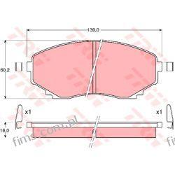 GDB1177 TRW KLOCKI HAMULC. MAZDA MPV 95-99   MAZDA E2200  10H3003  J3603046