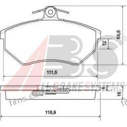 36790 A.B.S. KLOCKI HAMULCOWE VW PASSAT 88-96 16MM  GOLF III  357698151A   GDB1048  13.0460-2957  0986460943