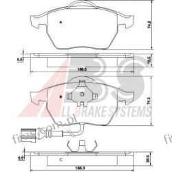 37133 A.B.S. KLOCKI HAMULCOWE VW GOLF IV  Z CZUJ. OCTAVIA  LEON  P85045   GDB1403  13.0460-7122  0986494018