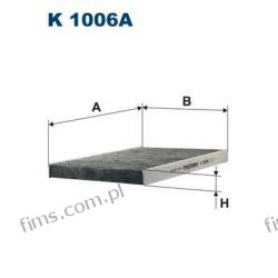 K1006A FILTRON FILTR POWIETRZA KABINOWY GOLF POLO PASSAT CADDY  K1006A  LAK31  CUK2882