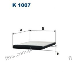 K1007 FILTRON FILTR POWIETRZA KABINOWY Citroen Berlingo Xantia 3/93-> Peugeot Partner 1/96->  K1007  6441H7  CU2225  LA8  AH101