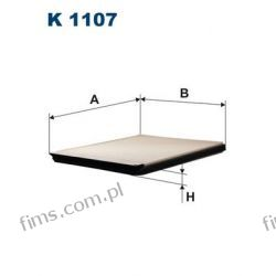 K1107 FILTRON FILTR POWIETRZA KABINOWY CITROEN XSARA  6447FG  K1107  LA135   F408501  CU2630