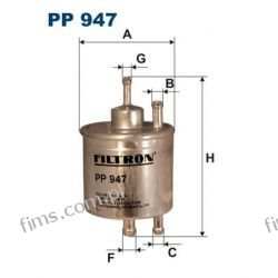 PP947 FILTRON FILTR PALIWA MERCEDES A140-A190  0024773801  PP947  KL87   EP198  WK711/1
