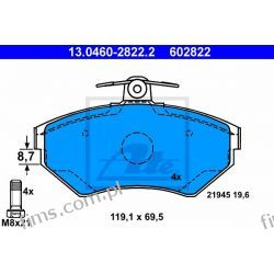 13.0460-2822.2 ATE KLOCKI HAMULCOWE VW PASSAT AUDI A4 PRZÓD  8E0698151  GDB1266
