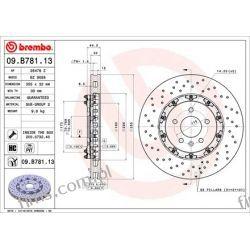 09.B781.13 BREMBO TARCZA HAMULCOWA OPEL ASTRA GTC J 12- PRZÓD   569088  430.2634.70